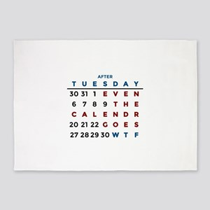 Calendar What The WTF 5'x7'Area Rug
