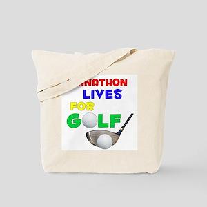 Johnathon Lives for Golf - Tote Bag