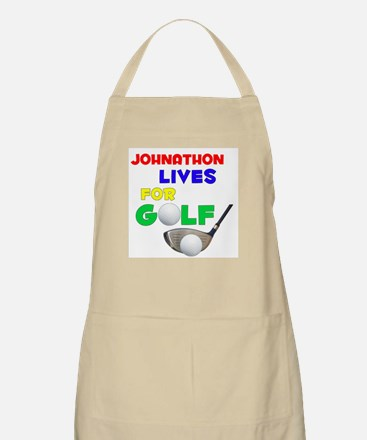 Johnathon Lives for Golf - BBQ Apron