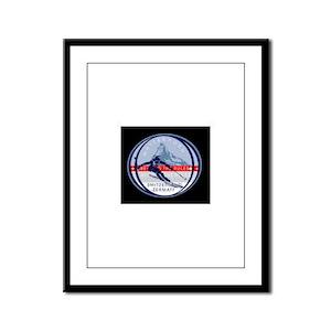 Ski Framed Panel Print