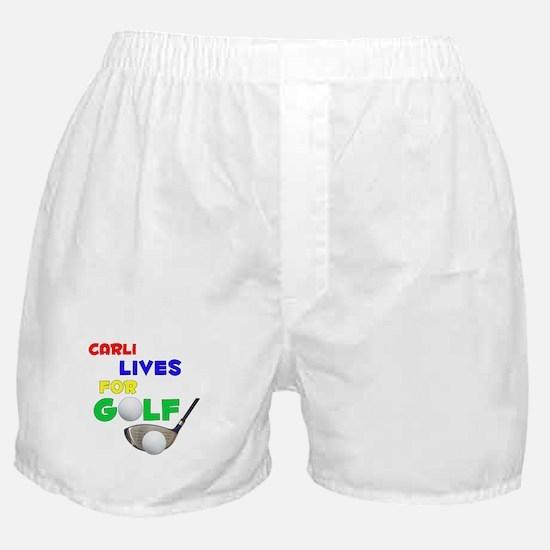 Carli Lives for Golf - Boxer Shorts