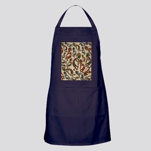 Kokopelli Rainbow Colors on Tribal Pattern Apron (