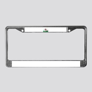 Pink Bonsai License Plate Frame