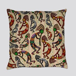 Kokopelli Rainbow Colors on Tribal Pattern Everyda
