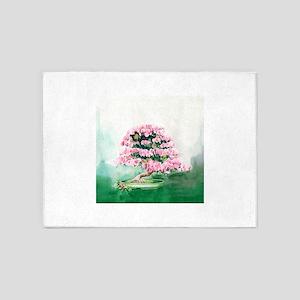 Pink Bonsai 5'x7'Area Rug