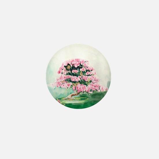 Pink Bonsai Mini Button