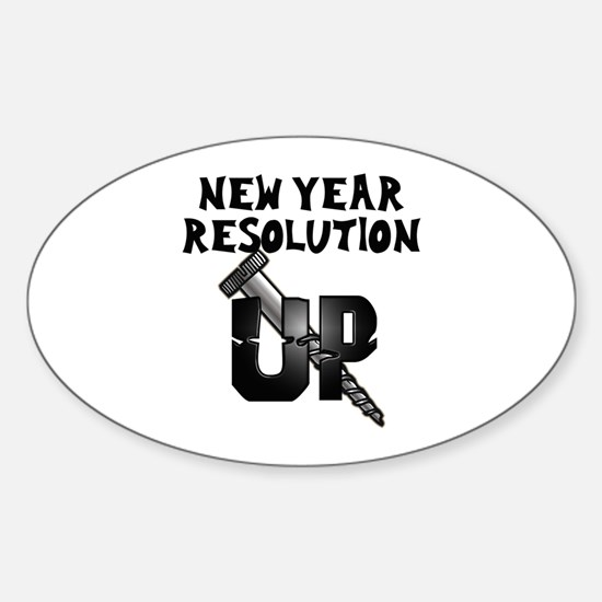 Resolution Screw Up Oval Bumper Stickers