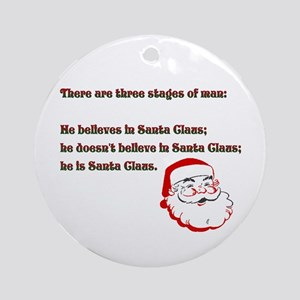 Three Santa Stages of Life Ornament (Round)