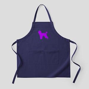 Poodle Purple 1 Apron (dark)