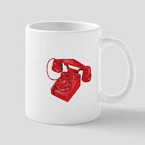 Telephone Vintage Drawing Mugs
