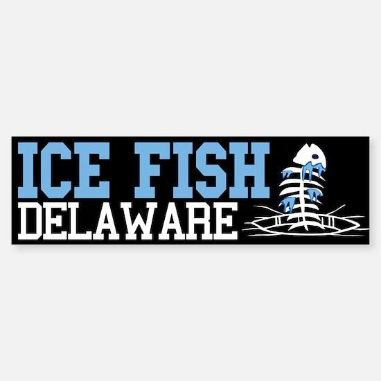 Ice FIsh Delaware Bumper Bumper Bumper Sticker