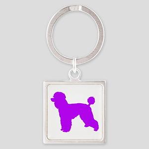 Poodle Purple 1C Keychains