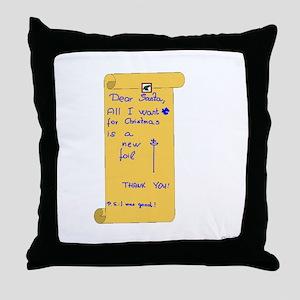 Foilist Wishlist Throw Pillow