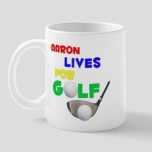 Aaron Lives for Golf - Mug