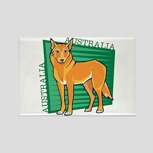 Australia Dingo Rectangle Magnet