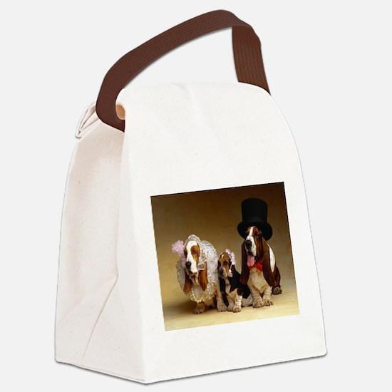basset bridal party Canvas Lunch Bag