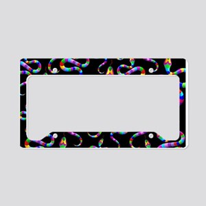 Snake Psychedelic Rainbow Colors License Plate Hol