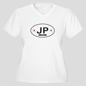 Japan 2F Women's Plus Size V-Neck T-Shirt