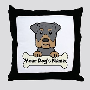 Personalized Rottweiler Throw Pillow