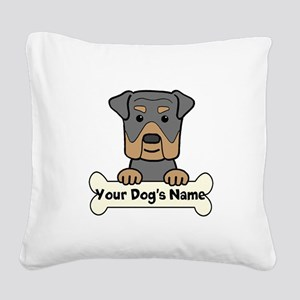 Personalized Rottweiler Square Canvas Pillow