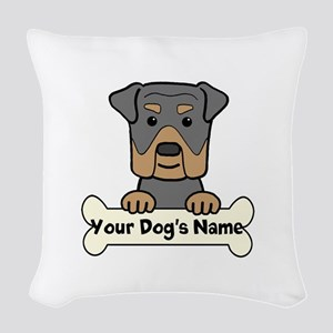 Personalized Rottweiler Woven Throw Pillow