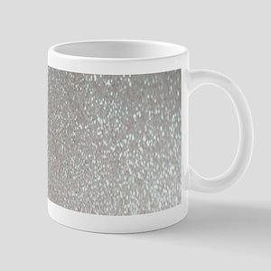metalic pearl silver glitter Mugs