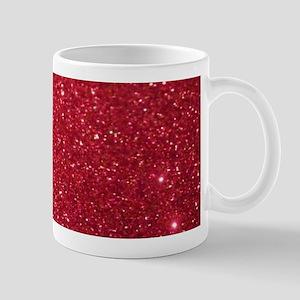Girly Chic Red Glitter Mugs
