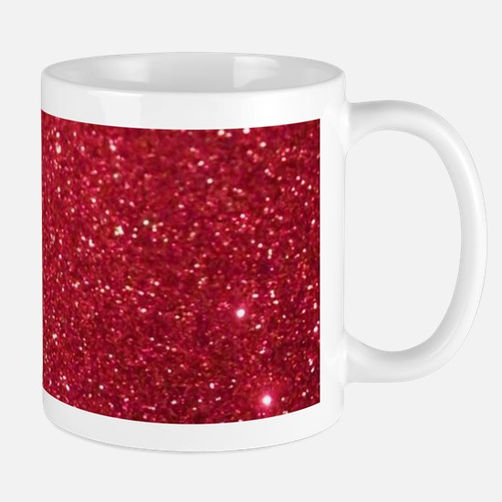 Girly Chic Red Glitter Mugs