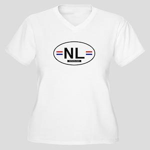 Netherlands 2F Women's Plus Size V-Neck T-Shirt