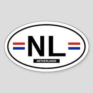 Netherlands 2F Oval Sticker