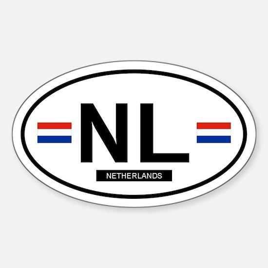 Netherlands 2F Oval Stickers