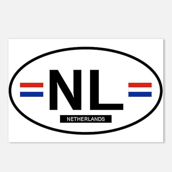 Netherlands 2F Postcards (Package of 8)