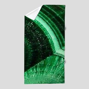 bohemian tribal gemstone emerald Beach Towel