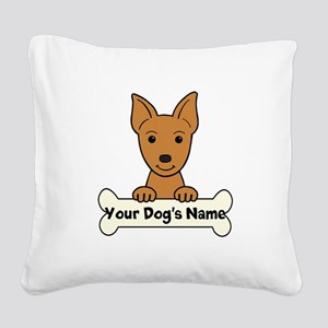 Personalized Min Pin Square Canvas Pillow