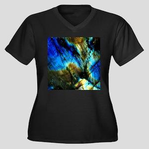 tribal bohemian marble turquoise Plus Size T-Shirt