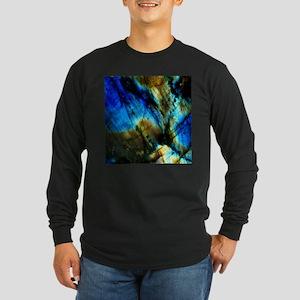 tribal bohemian marble turquoi Long Sleeve T-Shirt
