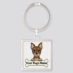 Personalized Min Pin Square Keychain