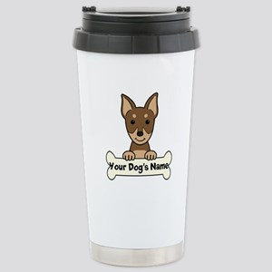 Personalized Min Pin Stainless Steel Travel Mug