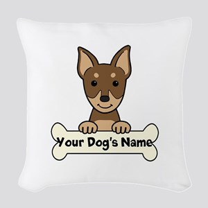 Personalized Min Pin Woven Throw Pillow