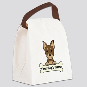 Personalized Min Pin Canvas Lunch Bag
