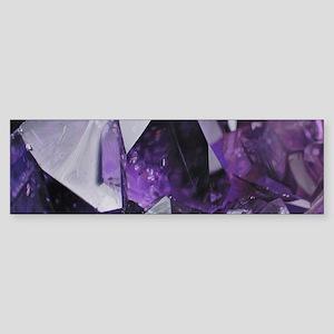 bohemian chic purple amethyst Bumper Sticker