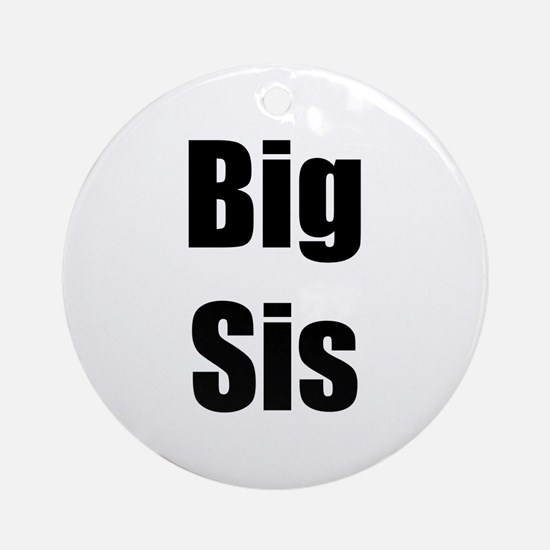 Big Sis Matching Ornament (Round)