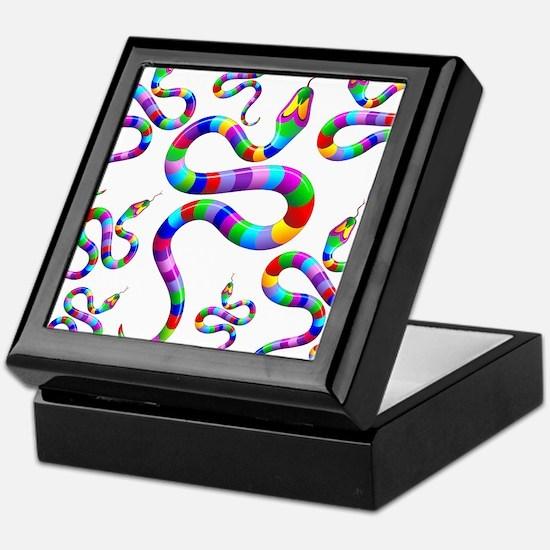 Snake Psychedelic Rainbow Colors Keepsake Box