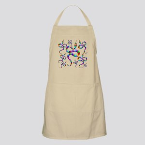 Snake Psychedelic Rainbow Colors Apron