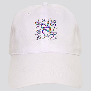 Snake Psychedelic Rainbow Colors Cap