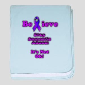 Domestic Abuse Awareness baby blanket