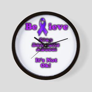Domestic Abuse Awareness Wall Clock