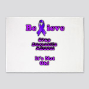 Domestic Abuse Awareness 5'x7'Area Rug