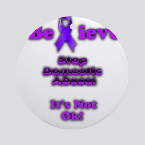 Domestic Abuse Awareness Round Ornament
