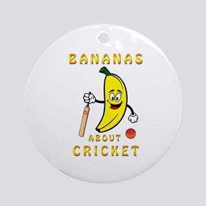 Bananas About Cricket Round Ornament
